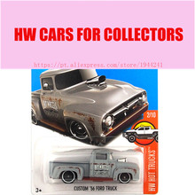 New Arrivals 2017 Hot Wheels 1:64 Custom 56 Ford Truck Metal Diecast Cars Models Collection Kids Toys Vehicle For Children(China)