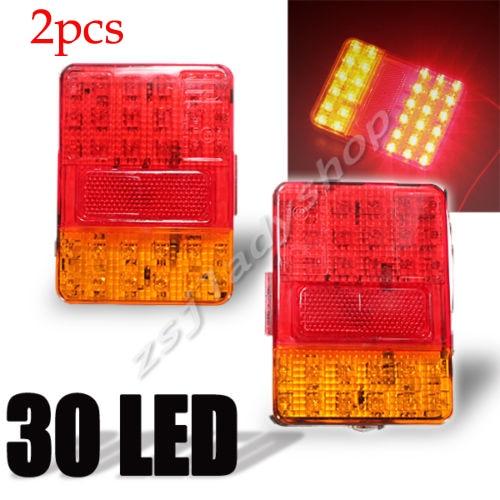 2pcs 12V 30 LED Taillight REAR Truck Car Van Lamp Tail Trailer Light E-Marked New<br><br>Aliexpress