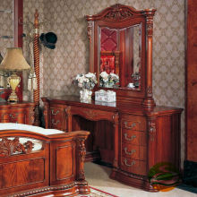 Dresser Solid wood dresser with vanity mirror chair
