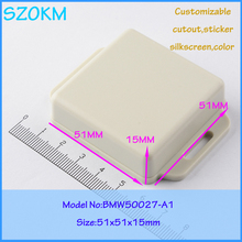 20 pcs/lot free shipping small electronic enclosure  plastic enclosures for electronics plastic box small 51x51x15mm