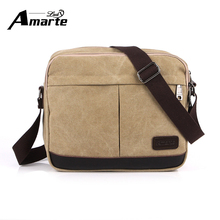 Large Cross Section Square Shoulder Official Business Package Men's Pc Tablet Bags Canvas Cover Messenger Bags