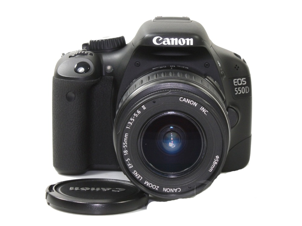 Canon Slr-Camera Lens Memory-Card USED Digital 550D Black 18MP with Ef-S-18-55-Is-Kit title=