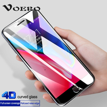 VOERO 4D Curved Edge Full Cover Tempered Glass For iPhone 7 6 Plus Premium Screen Protective Film For iPhone X 6s 8 7 Plus Glass(China)