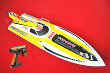 "54"" Large 30CC Engine Fiber Glass Gas RC Racing High Speed Boat G30H ARTR 43Mph W/Remote Control RC Boat Yellow"