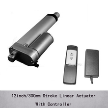 Electric linear actuator 24v with 12inch/300mm stroke, 1000N/100kgs load recliner chair linear actuator with controller