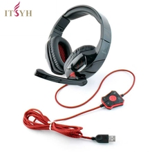 Competitive game headset with microphone USB plug foldable headphone Wired with LED light PC Compute game PS2 PS3 PS4 TW-820