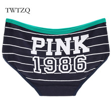 Buy TWTZQ Fashion Sexy Panties Cotton Cute Pattern Pink 1986 Intimates Women Underwear Briefs Ladies Calcinha Girls Lingerie A3NK012