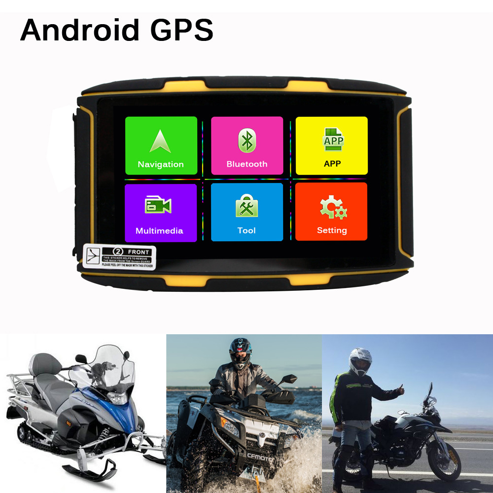 Nest  Inch Ips Screen Motorcycle Gps Navigation Android  With Wifi Bluetooth Fm Waterproof To Ipxg