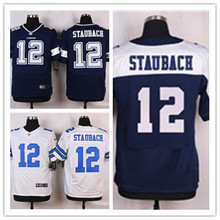 Mens 12 Roger Staubach Jersey 2017 Rush Salute to Service High Quality Football Jerseys(China)