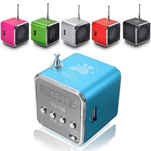 Free shipping 1PC Mini USB TF Card Speaker Music Player Mini Speaker Music Player Portable FM Radio Stereo PC mp3 four color