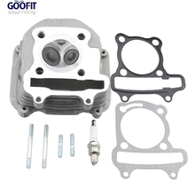 GOOFIT Cylinder Head Assembly for GY6 150cc ATV Go Kart Moped and Scooter K074-030