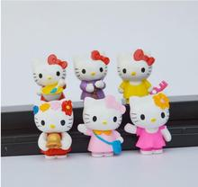New Hello Kitty toy 4cm size Action Figures Toys xmas Gift doll 6pc/set(China)