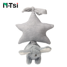 N-Tsi Soft Plush Bunny Wind Up Musical Stuffed Animal Play Melody Baby Crib Stroller Car Seat Hanging Toys for Children Kid Gift(China)