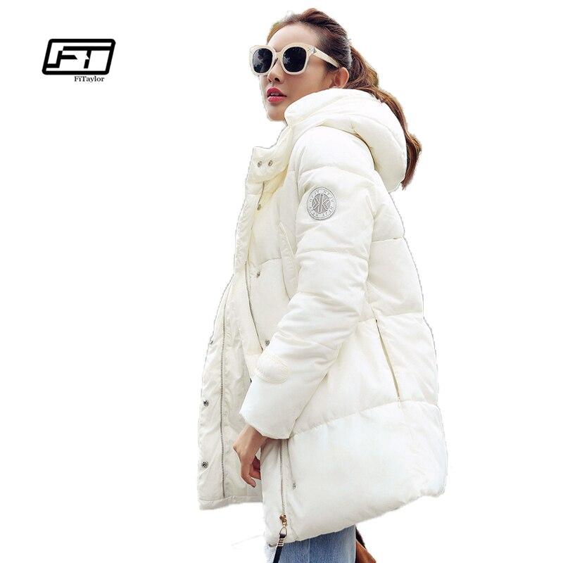 Fitaylor Winter wadded jacket women medium-long plus size thermal bread style parkas thickening hooeded cotton-padded jacketÎäåæäà è àêñåññóàðû<br><br>