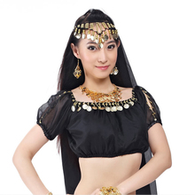 Belly Dance Costume Shinning Blouse Top short sleeves with coins practice dancewear 13 colors SF103