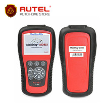 [AUTEL Distributor] AUTEL MaxiDiag Elite MD802 4 System With Datastream Model Engine,Transmission,ABS and Airbag Code Scanner(China)