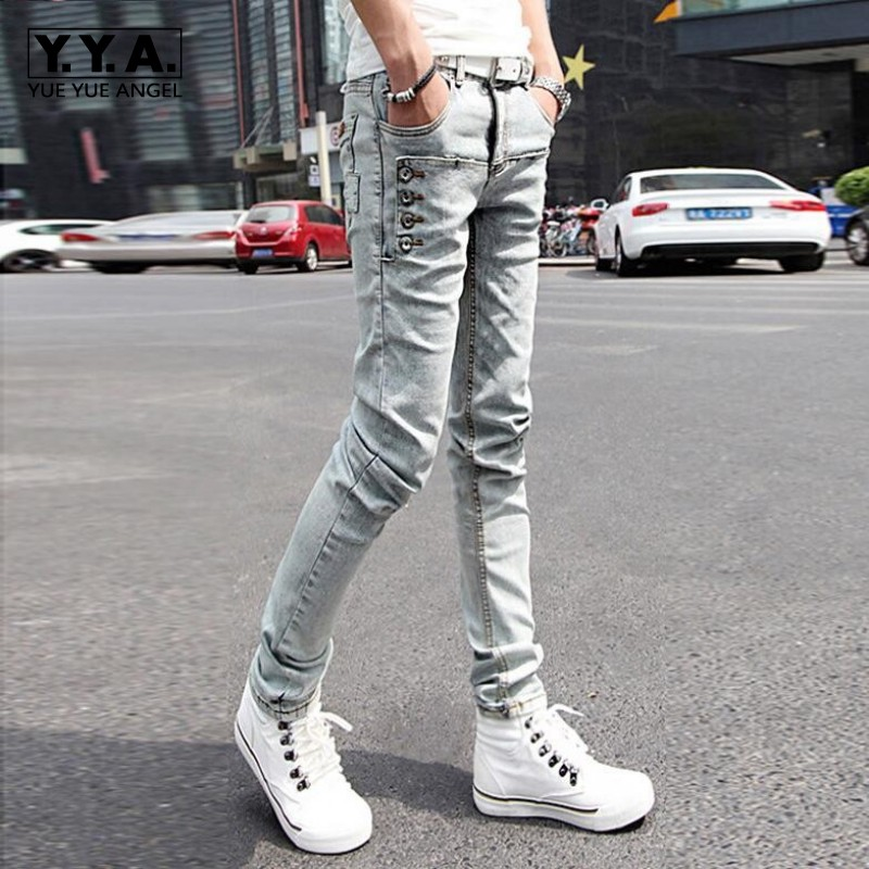 2017 New Wholesale Fashion Mens Stretch Korean Slim Fit Jeans Skinny Pants Size 27--36 Black Trousers Free ShippingÎäåæäà è àêñåññóàðû<br><br>