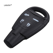 LARATH Replacement 4 Buttons Remote Key Fob Case Shell For Saab 93 95 9-3 9-5 DKT0187 with Logo