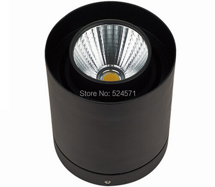 Free Shipping 30W COB high power Warm/Pure/cold white  Black Shell surface mounted led down light   85-265v<br>