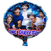 TSZWJ I-099 Free Shipping 18 inches round One Direction Balloons helium balloons for birthday party decoration cartoon balloons(China)