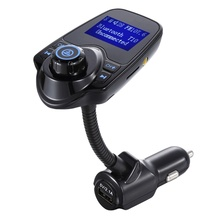 FM Transmitter T10 Bluetooth Stereo Music Car MP3 Players/USB Charger Handsfree Calling Handset For Iphone 7 7p Samsung Xiaomi(China)