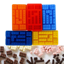 Tetris blocks\robot silicone mold fondant chocolate mould ice cube stencils cake decorating accessories baking tools for kitchen