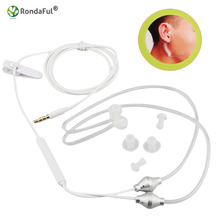 New Anti-Radiation Earphones Binaural Universal 3.5mm Noise Cancelling Air Tube Acoustic Earbuds Microphone