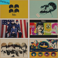 The Beatles Home Furnishing decoration Kraft acid rock music Poster Drawing core Wall stickers(China)
