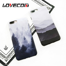 Buy LOVECOM Vintage Mountain Forest Clouds Print Phone Case iPhone 7 7 plus 6 6s Soft IMD Back Cover Landscape Scenery Coque for $2.39 in AliExpress store