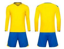 Men Long sleeve 2017 7color size tracking Purple kits jersey adult soccer football suit yellow(China)