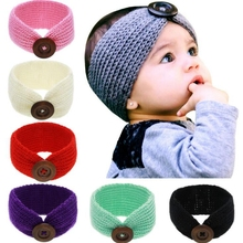 Retail 9 Colors Baby Girls Knit Crochet Turban Headband Winter Warm Headbands Hair Accessories For Newborns Hair bands Headwear(China)