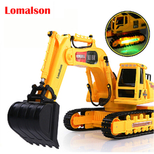 Rc excavators large wireless remote control excavator children's toy car remote control car charging Free shipping(China)