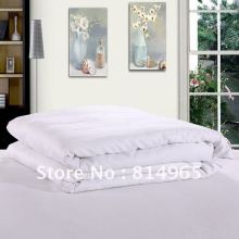 Top Grade Summer 120GSM 100% Mulberry Silk Filled White Handmade Duvet Quilt Comforter Queen210X210cm Or Make Any Size(China)