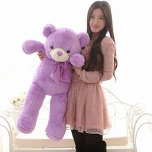 The lovely lavender teddy bear doll plush purple big teddy bear toy  birthday gift about 100cm