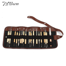 Kiwarm 30pcs/Set Pottery Clay Sculpture Carving Modelling Ceramic Wooden Tools Kit DIY Craft For Home Handwork Supplies(China)