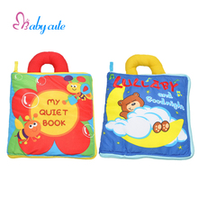 Baby Cloth Book Intelligence Development Educational Toy Kids Soft Cloth Rattle Toy Learn Cognize Book For 0-12 Months(China)