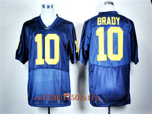 Nike 2017 Wolverines Brady 10 Navy Blue Football Limited Boxing Jersey(China)