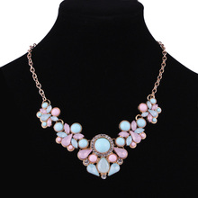 New 2016 Hot Pendant Necklace Women Jewelry Trends Link Chain Statement Necklaces Water Drop Colar Pendants For Gift Party(China)