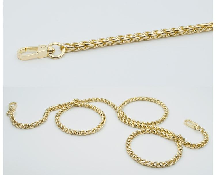 woman fashion bags accessory chain fashion new wallet accessroies chain handbag Solid Chain handle shoulder bag strap (6)