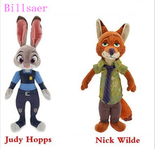 2016 New 18cm Plush Zootopia Rabbit judy Hopps Fox Nick Wilde Toys For Baby Kids Dolls