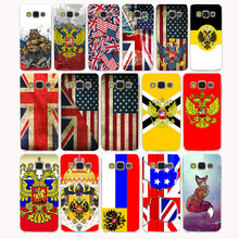 3212CA UK & US & Russia Flag Design Hard Case Cover for Samsung Galaxy S6 S7 S8 edge Plus S2 S3 S4 S5 Mini case cover