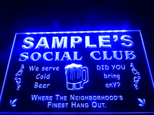 DZ027- Name Personalized Custom Social Club Home Bar Beer   LED Neon Light Sign hang sign home decor  crafts