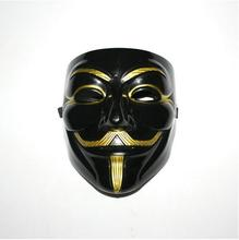 High quality Fawkes Mask V wie Guy Fawkes Vendetta Mask Halloween Cosplay party mask V Vendetta Anonymous Movie Human Mask