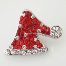 Snap Charm Holiday Ginger Interchangeable Jewelry Ginger Snap Button Rhinestone Christmas Decoration DIY charms KB4378