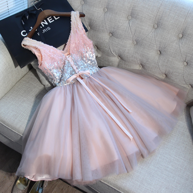 shop cheap Pink Short Evening Formal dress elegant Gown