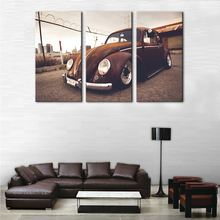 Canvas HD Printed Painting Wall Art Frame Pictures 3 Panel Beetle Vintage Classical Retro Car Supercar Poster Home Decor PENGDA