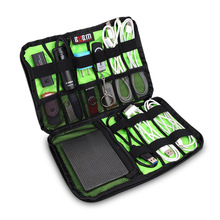 BUBM Data Cable Practical Earphone Wire Storage Bag Power Line Organizer electric bag Flash Disk Case Digital Accessories Bags M
