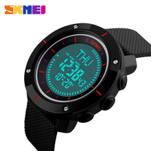 SKMEI Multifunction Digital Watch Waterproof Outdoor Sports Watches Men Compass Countdown Alarm LED Wristwatches
