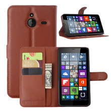 Vintage Wallet Style Photo Frame Leather Case For Nokia Lumia 640XL Stand Flip Luxury Wallet Card Holder Stylish Simplicity Red(China)