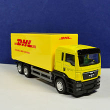 Diecast Truck 1:64 Scale Container Yellow Express DHL Model Collection Kids Toys Gift
